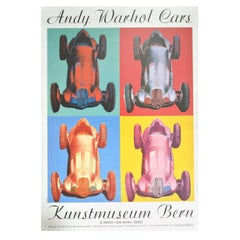 Original Vintage Poster Andy Warhol Cars Pop Art Exhibition Bern Mercedes Benz