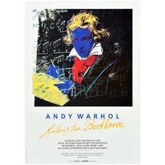 Original Vintage Poster Andy Warhol Ludwig Van Beethoven Festival Art Exhibition