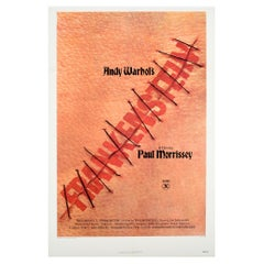 Original Vintage Poster Andy Warhol's Frankenstein By Paul Morrissey Horror Film