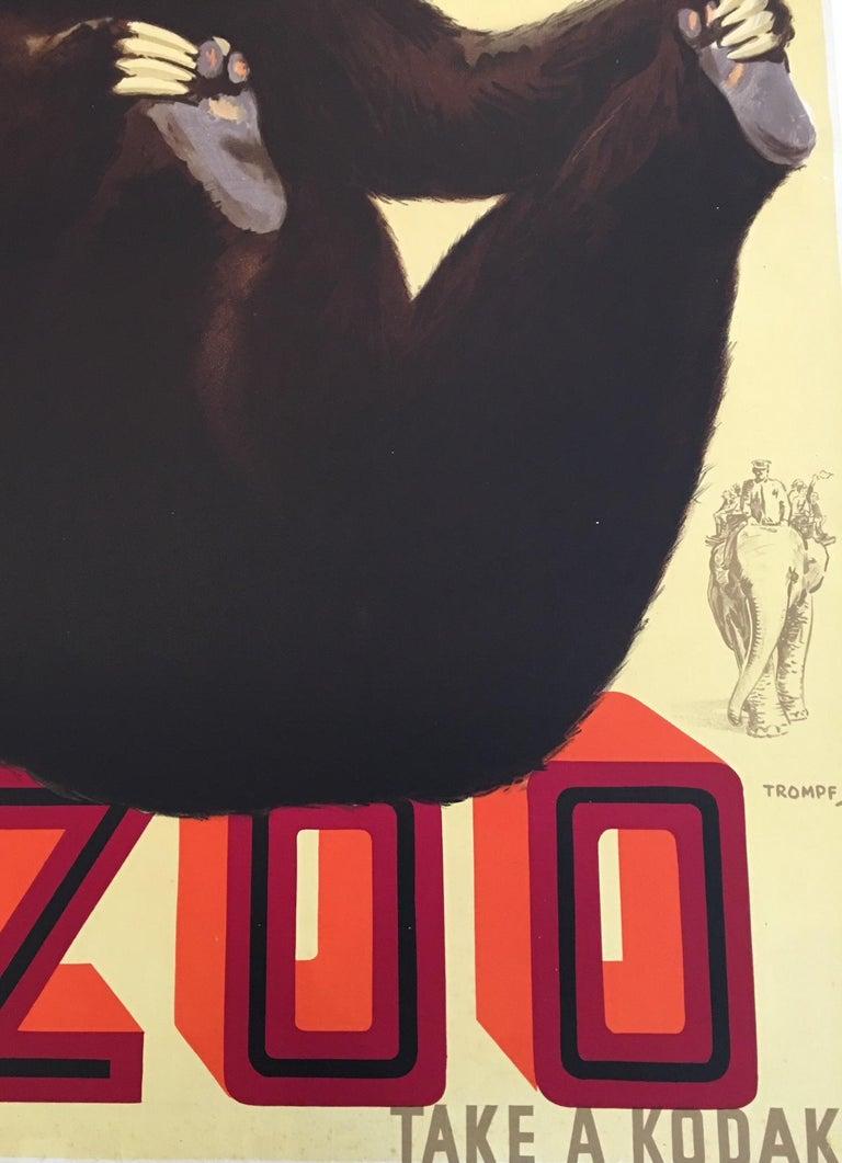 Art Deco Original Vintage Poster Australian Lithograph, Take a Kodak, 1930s, by Trompf