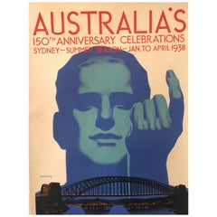 Original Vintage Poster 'Australia's 150th Anniversary Celebrations', 'c. 1938'