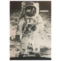 Original Vintage Poster, Boris Bucan 'PRODOR U SVEMIR' Astronaut, 1972