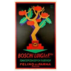 Original Vintage Poster Boschi Luigi Estratto Di Pomodoro Tomato Italian Food Ad