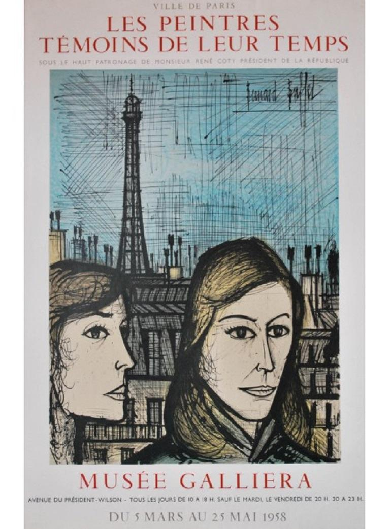 Mid-20th Century Original Vintage Poster by Bernard Buffet May 1958 Original Vintage Poster For Sale