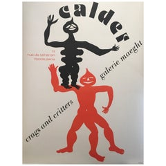 Original Vintage Poster, 'Calder Crags and Critters' 1975 Galerie Maeght