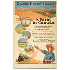 Original Vintage Poster Canadian National Railways A Farm In Canada Colonization