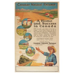 Original Vintage Poster Canadian National Railways A Home And Success In Canada