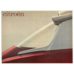 Original Vintage Poster Citroen DS Car Ad Futuristic Space Age Design Photograph