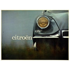 Original Vintage Poster Citroen DS Deesse Goddess Space Age Car Design Photo Art