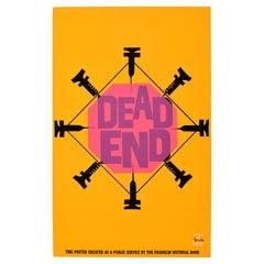 Original Vintage Poster Dead End Needles Drug Abuse Public Health Graphic Design
