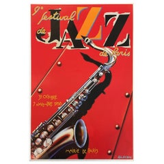 Original Vintage Poster Festival de Jazz 1988 French Lithograph for Jazz