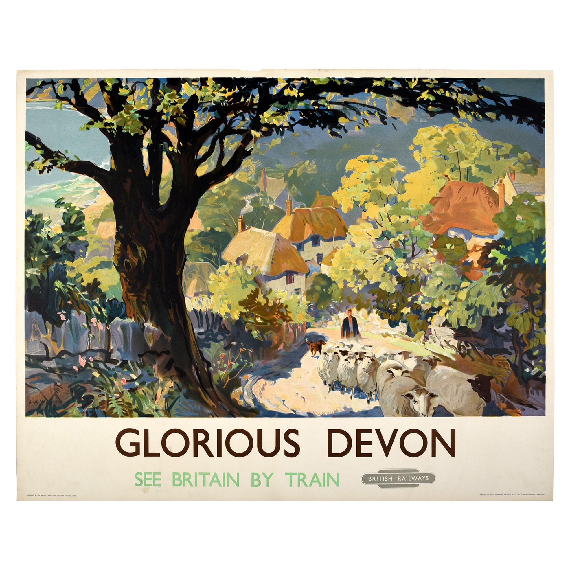 Original Vintage Poster for Glorious Devon British Railways See Britain By Train