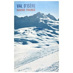 Original Vintage Poster For Val D'Isere Savoie France Winter Sport Skiing Travel