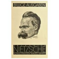 Original Vintage Poster Friedrich Nietzsche Book Editions Art Deco Alfred Kroner