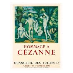Original Vintage Poster Hommage à Cézanne Octobre 1954
