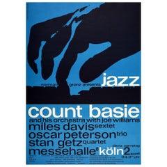 Original Vintage Poster Jazz Music Concert Count Basie Miles Davis Stan Getz ...