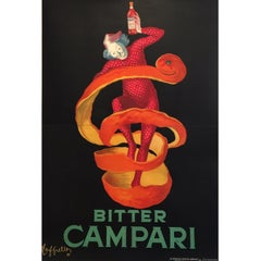 Original Vintage Poster LARGE Bitter Campari Spiratello Leonetto Cappiello 1927