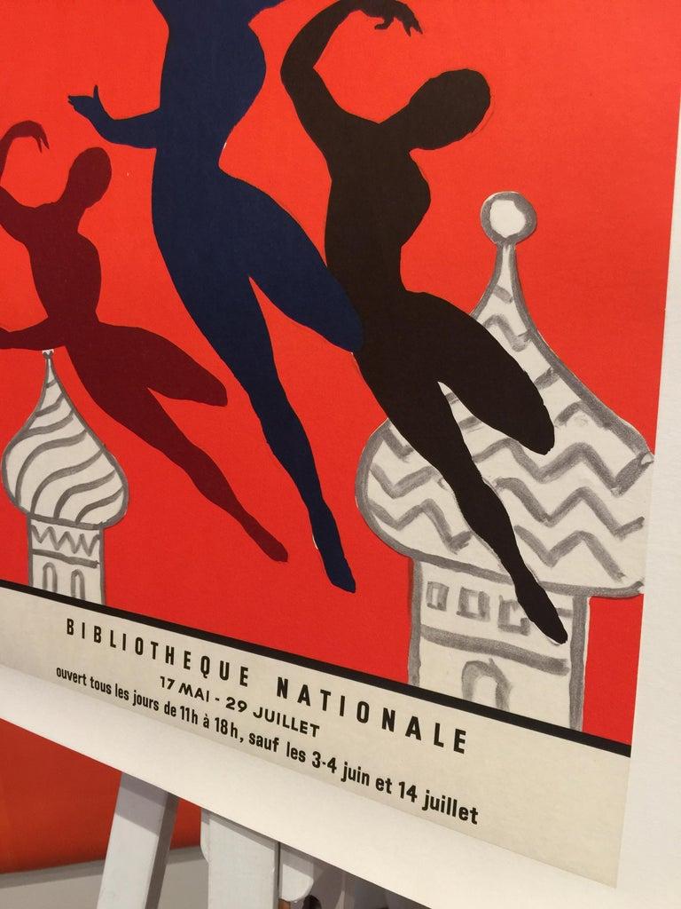 Art Nouveau Original Vintage Poster Les Bellet Russes by Villemot For Sale