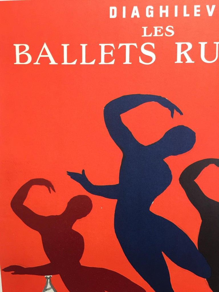 Late 20th Century Original Vintage Poster Les Bellet Russes by Villemot For Sale