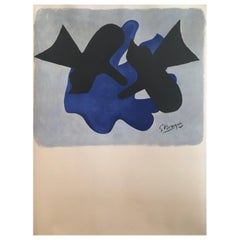 Original Vintage Poster 'LES METAMORPHOSES' by Braque, 1963