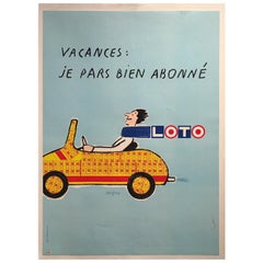 Original Vintage Poster, Loto, by Savignac