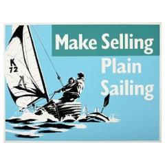 Original Vintage Poster Make Selling Plain Sailing Motivation Sport Theme Design