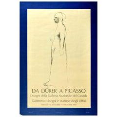 Original Vintage Poster Pablo Picasso Albrecht Durer Art Exhibition Uffizi Italy