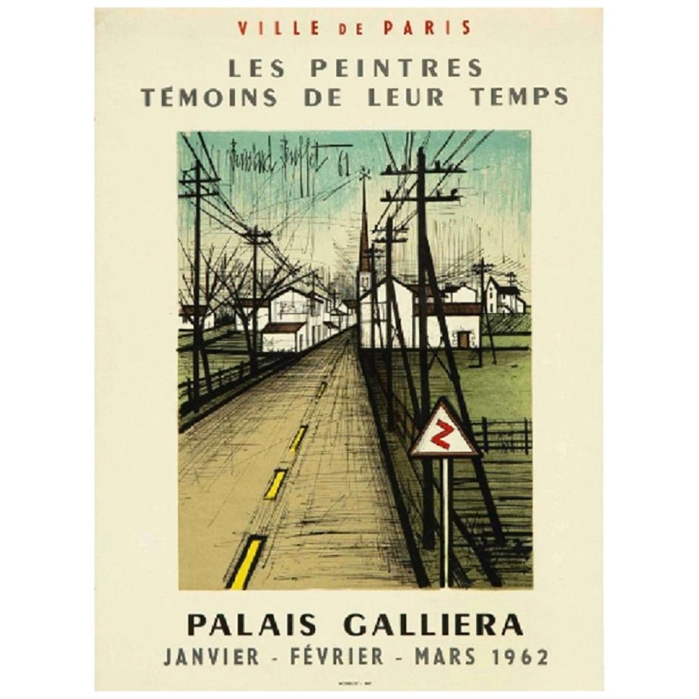 """Original Vintage Poster """"Palais Galiera"""" by Bernard Buffet, 1962"""