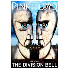 Original Vintage Poster Pink Floyd The Division Bell Music Album Art Metal Heads