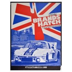 Original Vintage Poster Porsche Victory Brands Hatch World Sports Car Champions