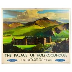 Original Vintage Poster Royal Palace Of Holyroodhouse Edinburgh British Railways
