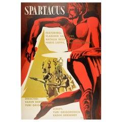 Original Vintage Poster Spartacus Bolshoi Ballet Film Sovexportfilm Gladiator