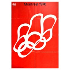 Original Vintage Poster Summer Olympic Games 1976 Montreal Quebec Canada Sport