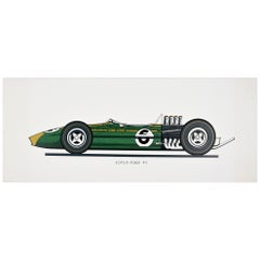 Original Vintage Poster Team Lotus Ford 49 Formula One Car Racing F1 Motor Sport