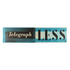 Original Vintage Poster Telegraph Less GPO Post Office WWII Modernist Typography