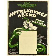 Original Vintage Poster Telepathie Phantom Telepathic Phantom Werner Snake Truth