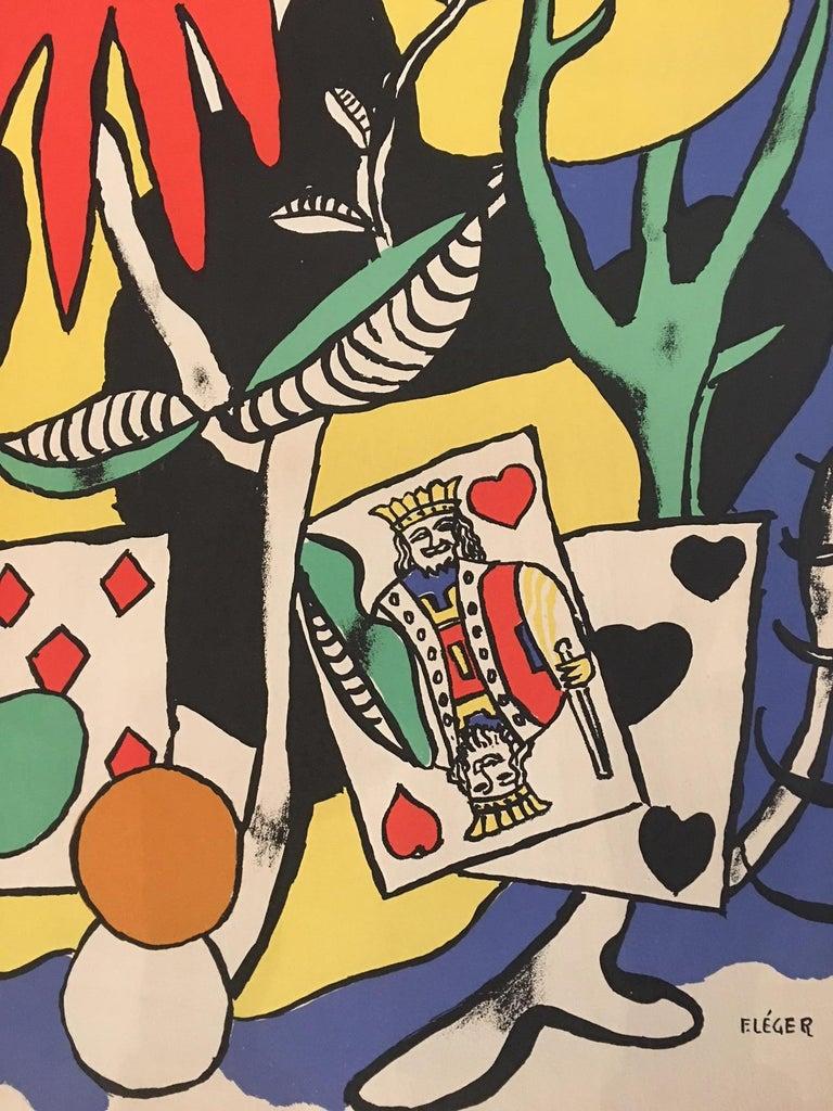 Original vintage poster, Festival de Jazz, 1988.  Artist:  Fernand Leger  Year: 1949  Dimensions: 78 x 55 cm.  Condition:  Excellent  Format: Linen backed.