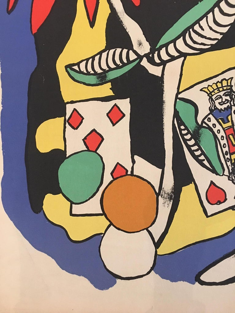 French Original Vintage Poster the King of Hearts 1949 Fernand Léger Lithograph Poster For Sale