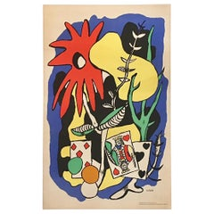Original Vintage Poster the King of Hearts 1949 Fernand Léger Lithograph Poster