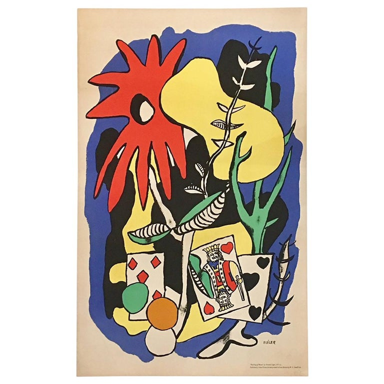 Original Vintage Poster the King of Hearts 1949 Fernand Léger Lithograph Poster For Sale