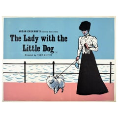 Original Vintage Poster The Lady With The Little Dog Classic Love Film Chekov