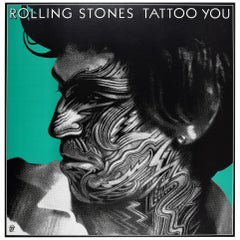 Original Vintage Poster the Rolling Stones Tattoo You Ft. Keith Richards Design