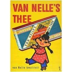 Original Vintage Poster Van Nelle's Tea Van Nelle Quality Coffee Tobacco Holland