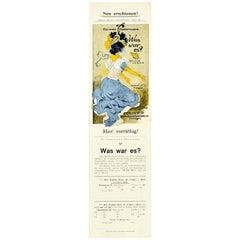 Original Vintage Poster What Was It A Flight Into The Blue Belle Epoque Art Book