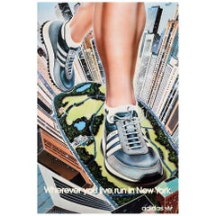 Original Vintage Poster Wherever You Live Run In New York Adidas Originals Shoes