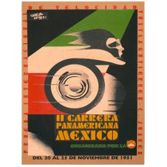 Original Vintage Racing Poster for Carrera Panamericana Mexico