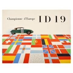 Original Vintage Rally Car Racing Sport Poster Citroen Championne d'Europe ID19