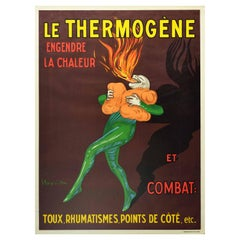 Original Vintage Reissue Poster Le Thermogene Heat Pads Coughs Rheumatism Health