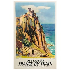 Original Vintage SNCF 1950s Corsica French Railway Poster, Fages