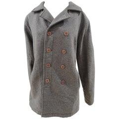 Original Vintage Style grey wool jacket